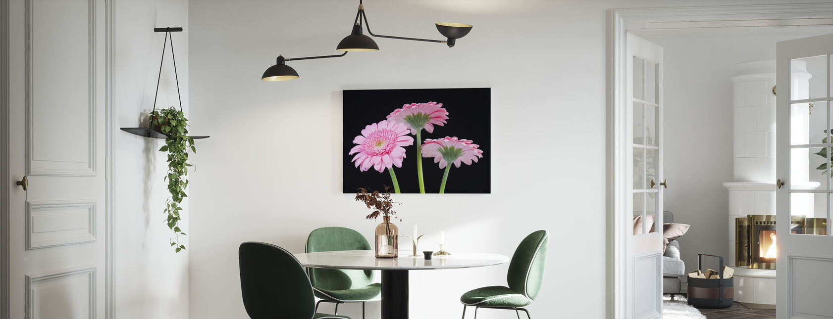 Rosa Gerbera - Lerretsbilde - Kjøkken
