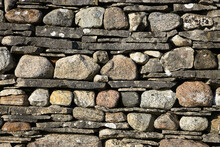 Fototapet - Stonewall with Slate