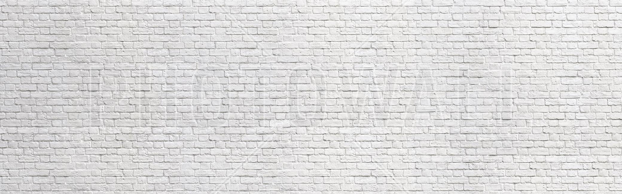 Brick Wall - White Fototapeter & Tapeter 100 x 100 cm