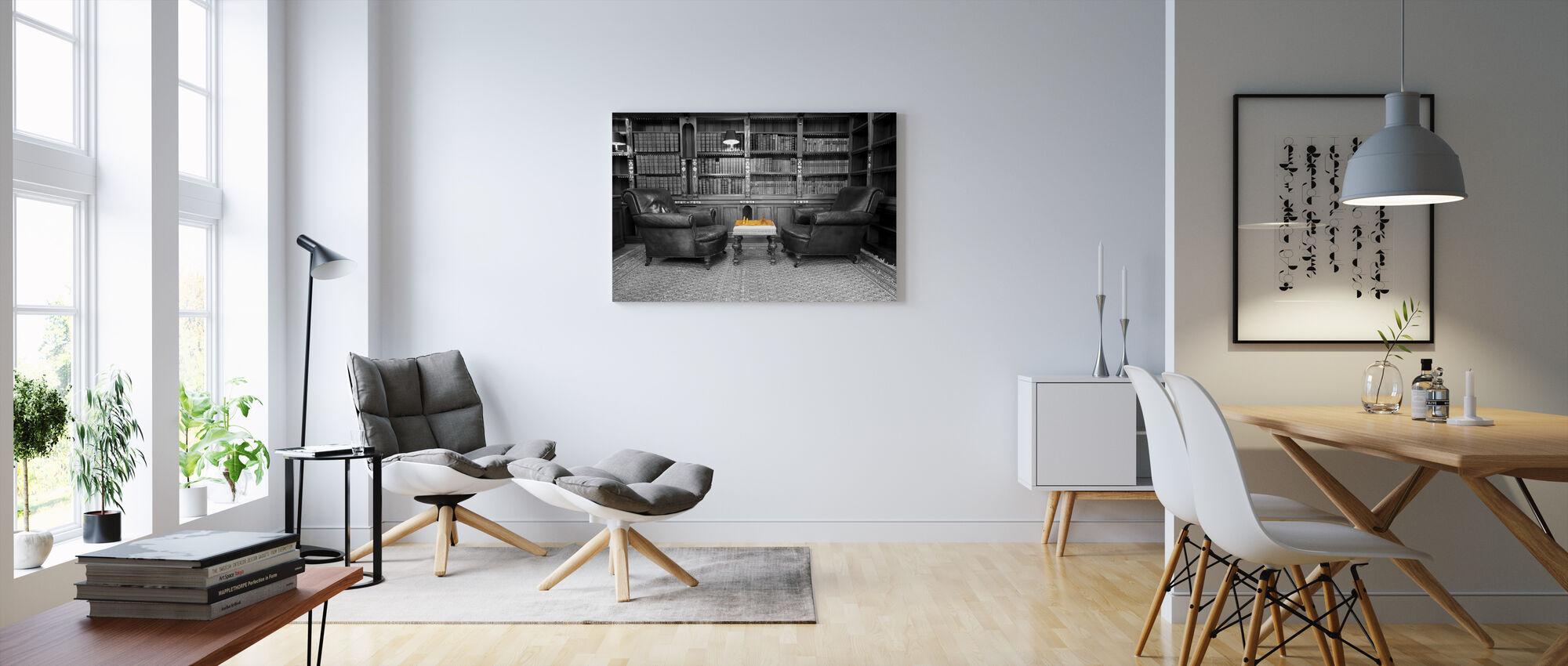 Oude Bibliotheek - Canvas print - Woonkamer