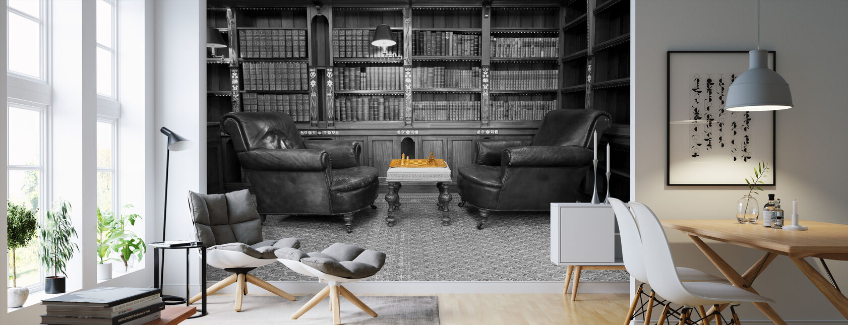 Old Library - Wallpaper - Living Room