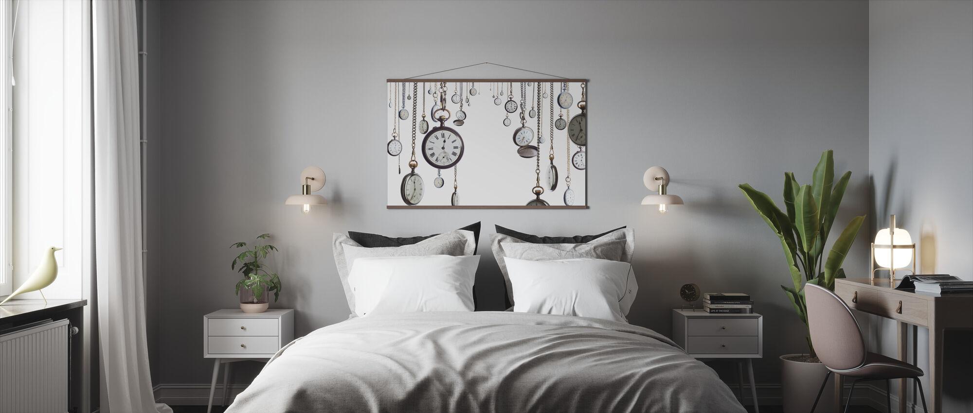 Vanhat kellot - Juliste - Makuuhuone