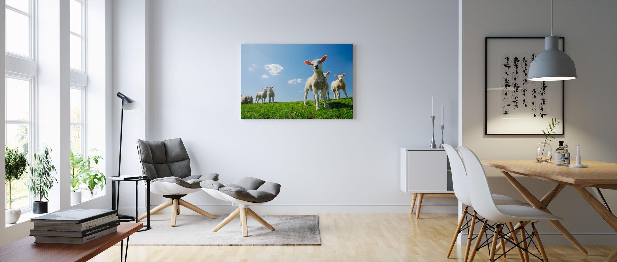 Lamb - Canvas print - Living Room