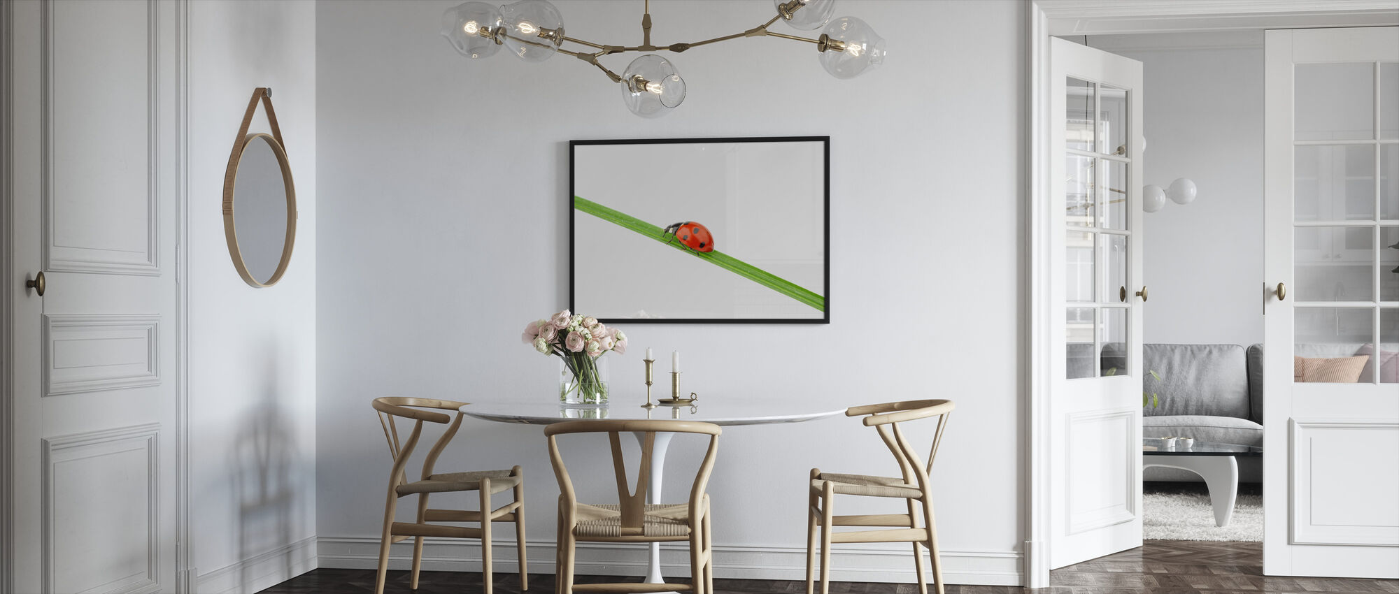 Ladybug on a Straw - Framed print - Kitchen