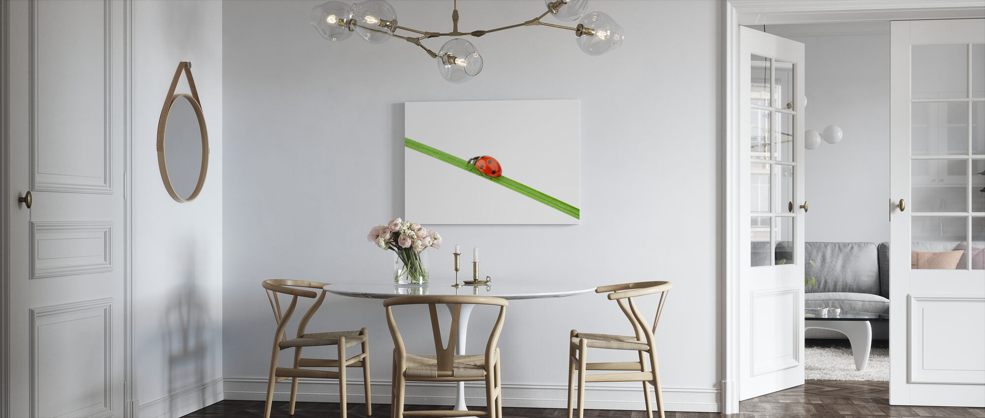 Ladybug on a Straw - Canvas print - Kitchen
