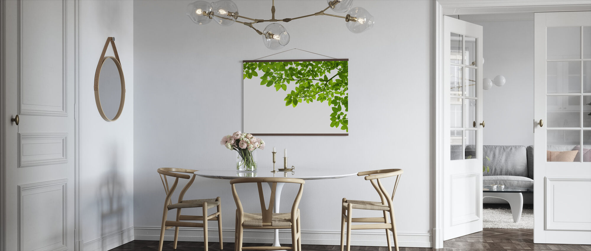 Frame of Leaves - Poster - Kitchen