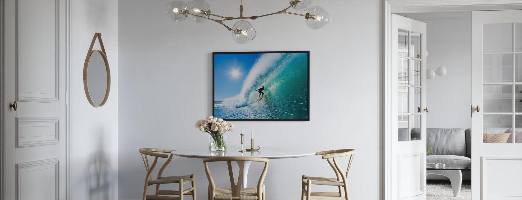Surfen - Ingelijste print - Keuken