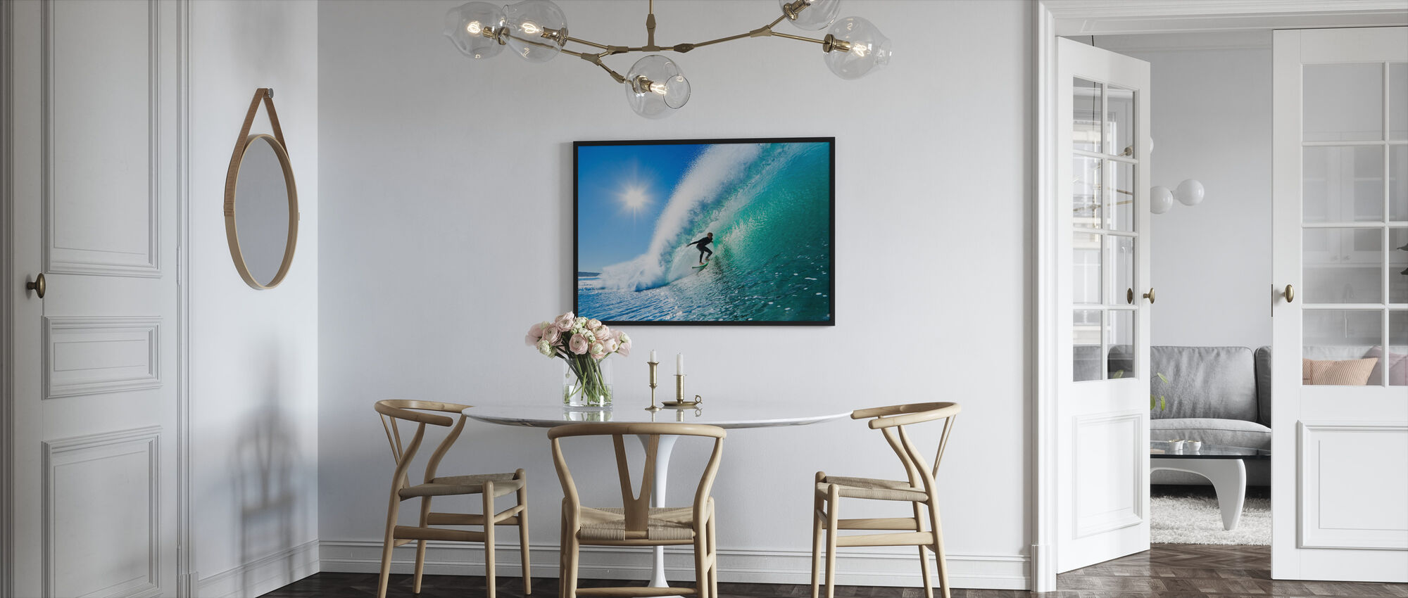 Surfing - Indrammet billede - Køkken