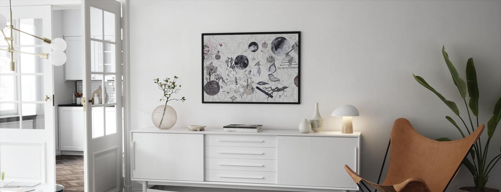 Mundi - Ingelijste print - Woonkamer