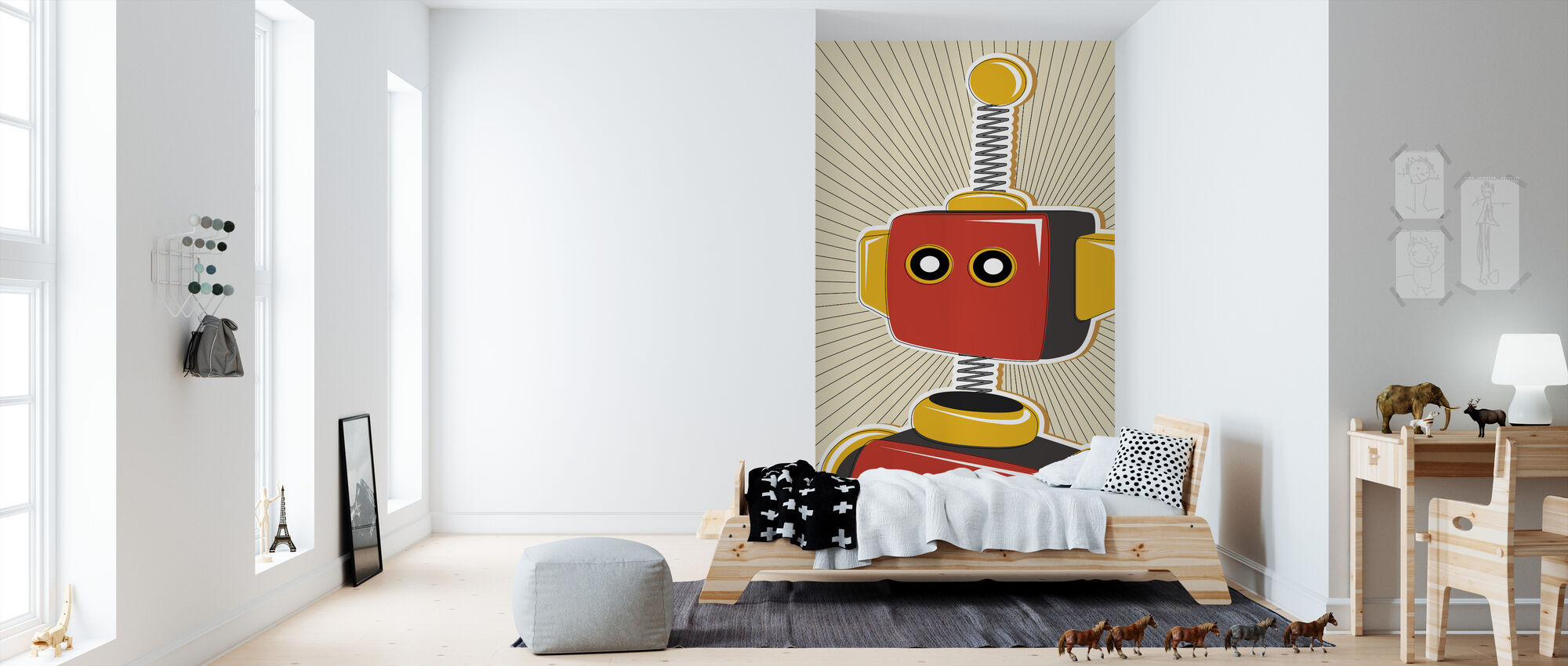 Retro Robot - Wallpaper - Kids Room