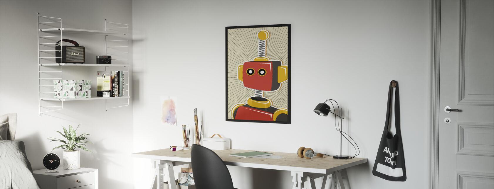 Retro Robot - Framed print - Kids Room
