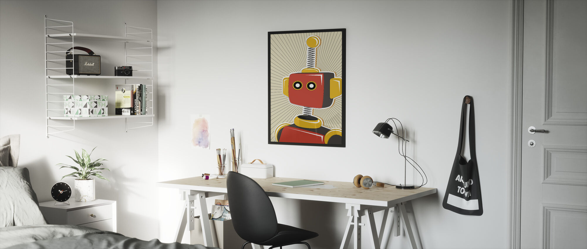 Retro Robot - Framed print - Kids Room
