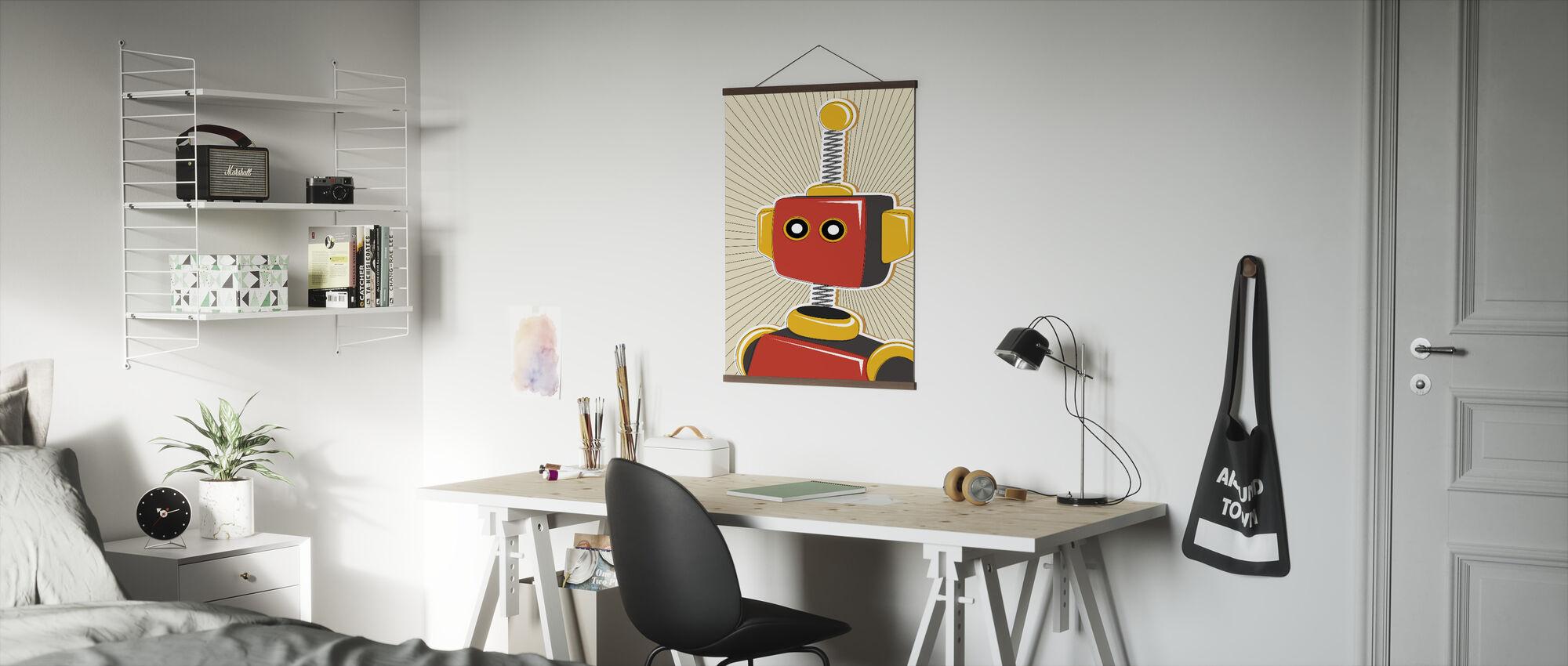 Retro Robot - Poster - Office