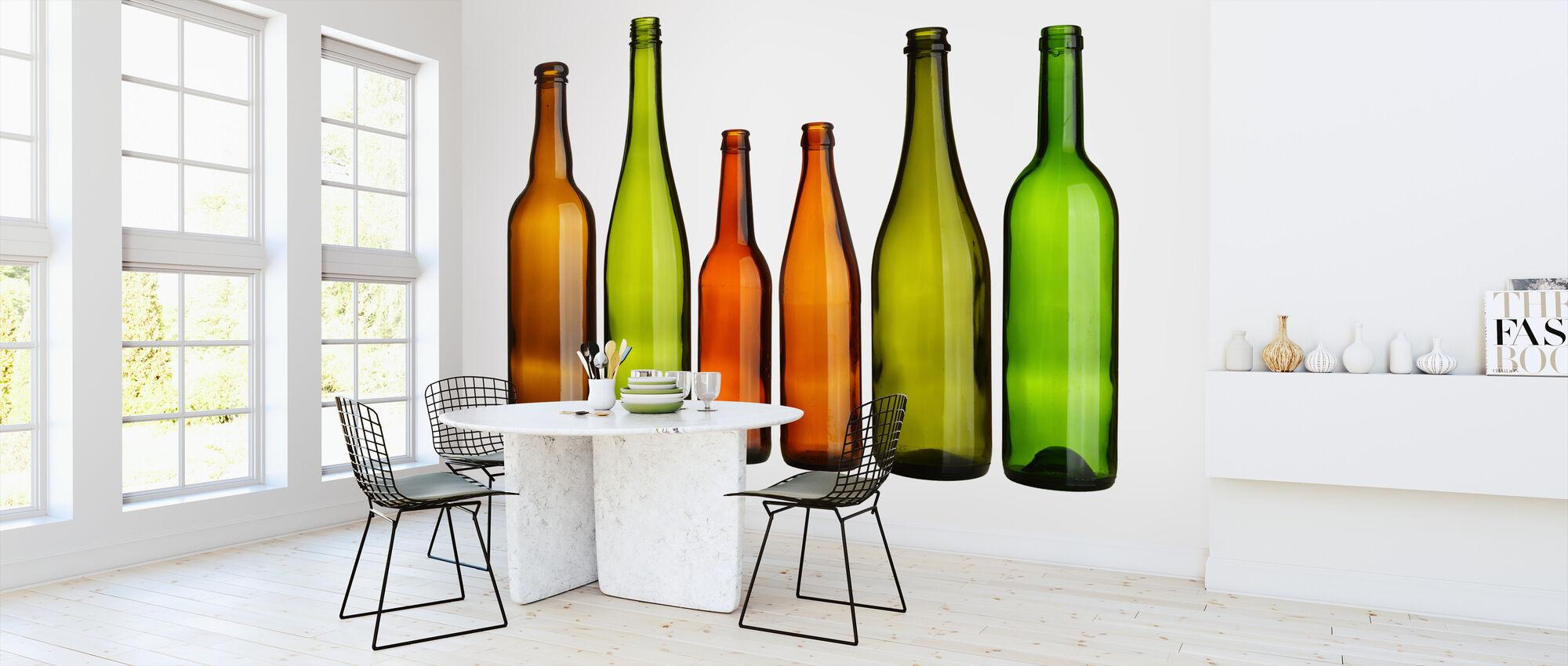 Värikäs pullot - Tapetti - Keittiö