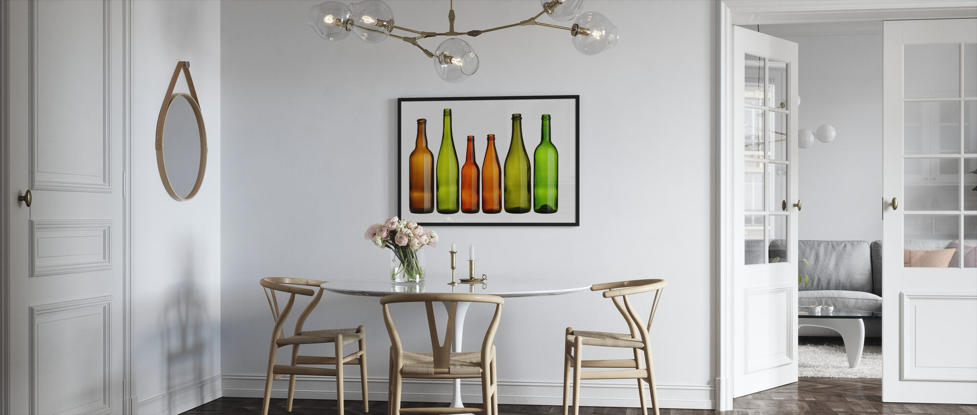 Colorful Bottles - Framed print - Kitchen