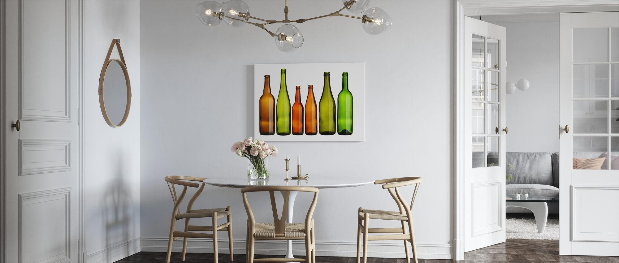 Färgglada flaskor - Canvastavla - Kök