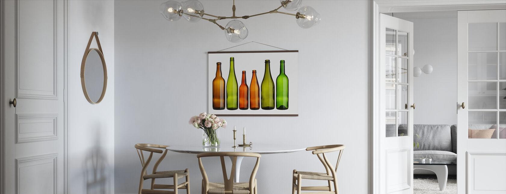 Botellas de colores - Póster - Cocina
