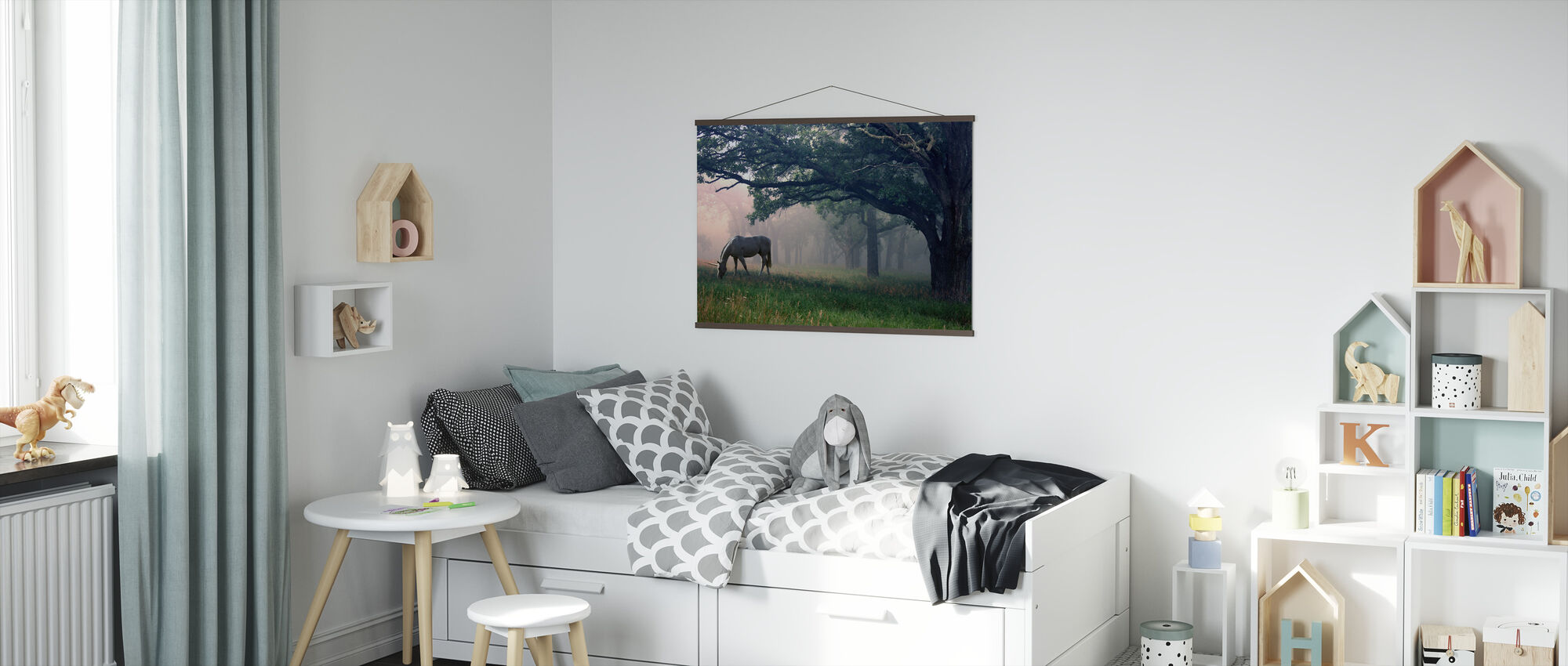 Unicorn in the Forest - Poster - Kids Room