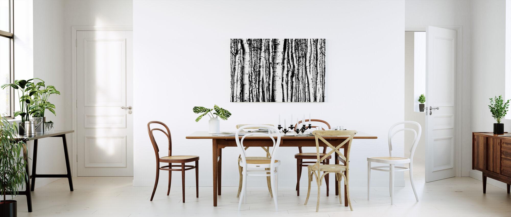Aspenin metsä - Canvastaulu - Keittiö