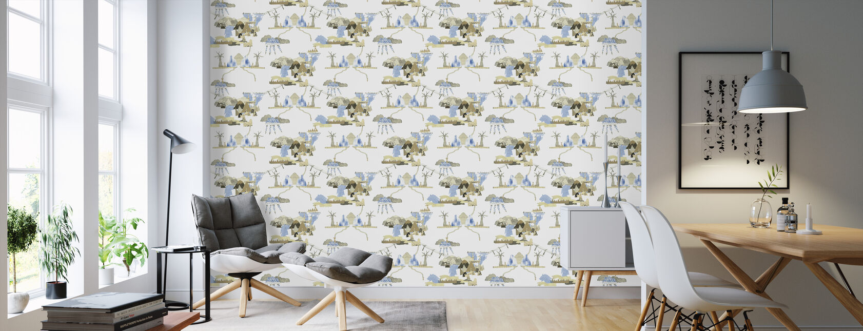 Nature Collage - Wallpaper - Living Room