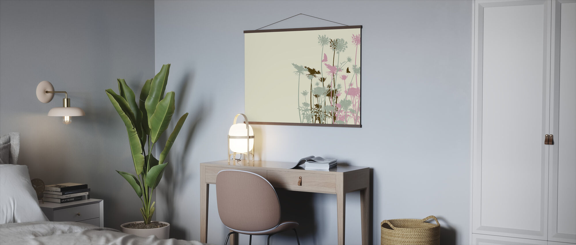Flower Background - Poster - Office