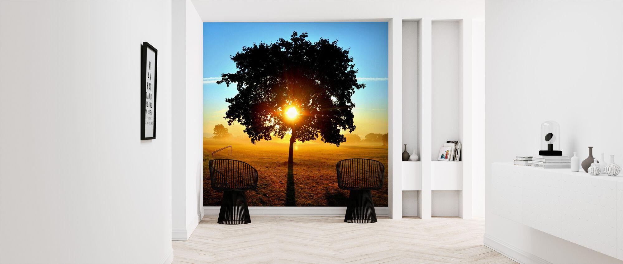 Sunrise on a Meadow - Wallpaper - Hallway