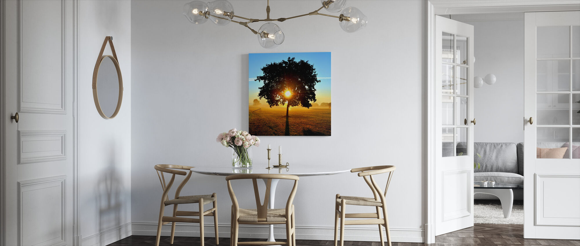 Sunrise on a Meadow - Canvas print - Kitchen