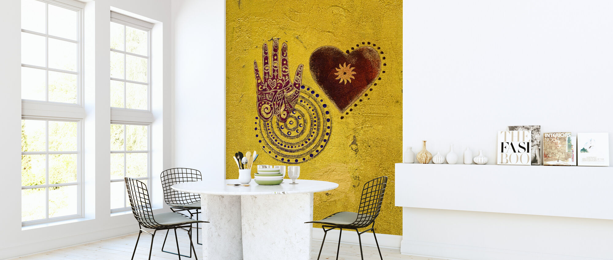 Hjerte og håndmaleri - Tapet - Køkken