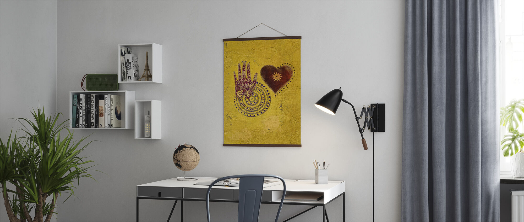 Heart and Hand Painting - Poster - Office