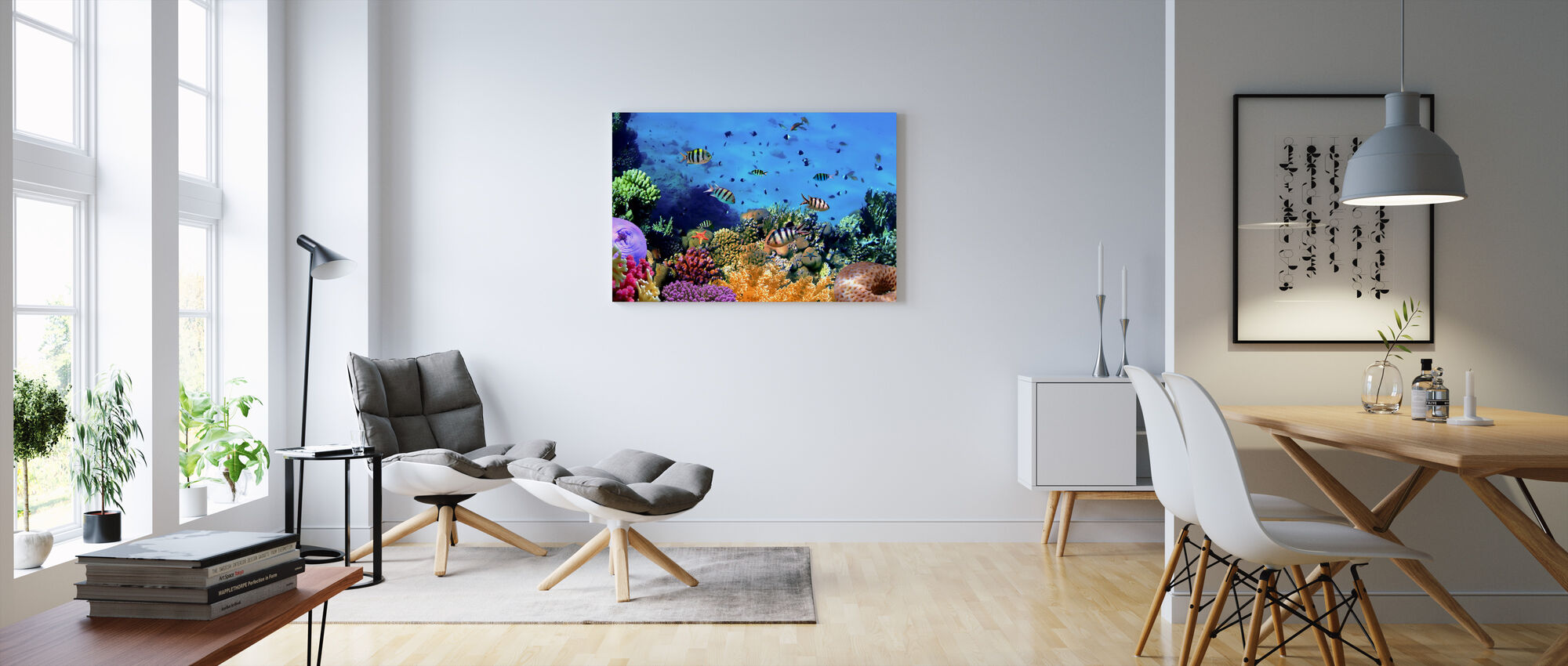 Coral Reef at Koh Cahg Island - Canvas print - Living Room