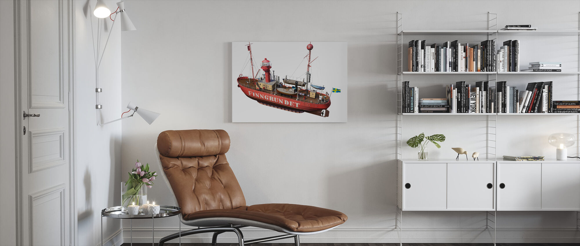 The lighthouse Finngrunget - Canvas print - Living Room