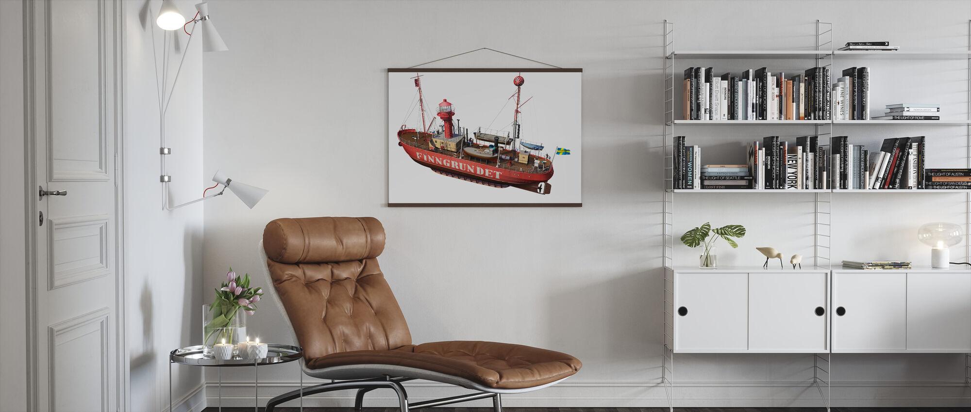 The lighthouse Finngrunget - Poster - Living Room