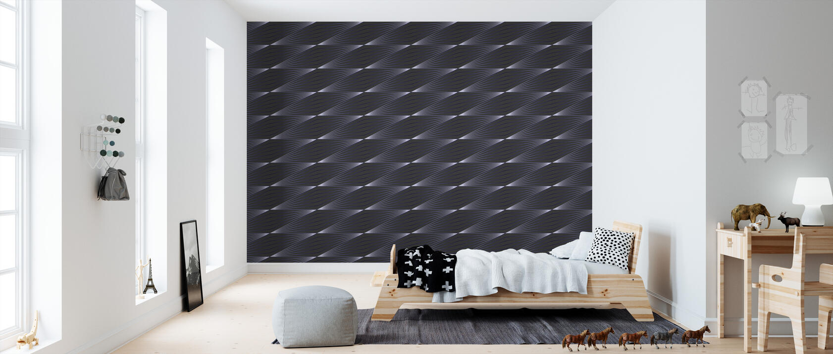 litted strings blue stilvolle tapete h chster qualit t mit schneller lieferung photowall. Black Bedroom Furniture Sets. Home Design Ideas
