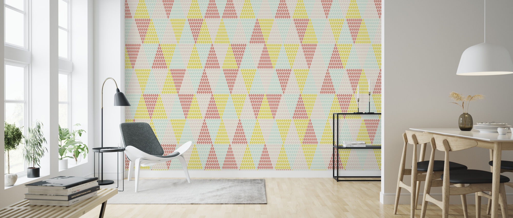 Studio Rita | Maria Bergström - Tiny Tree - Triangle - Wallpaper - Living Room