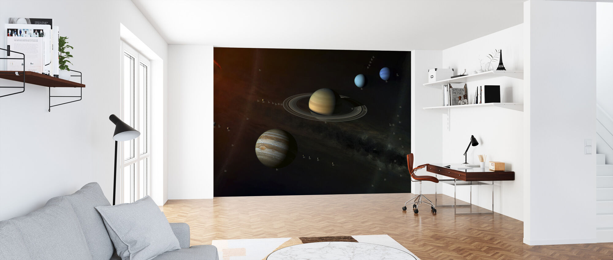 Solar System - With info labels - Wallpaper - Office