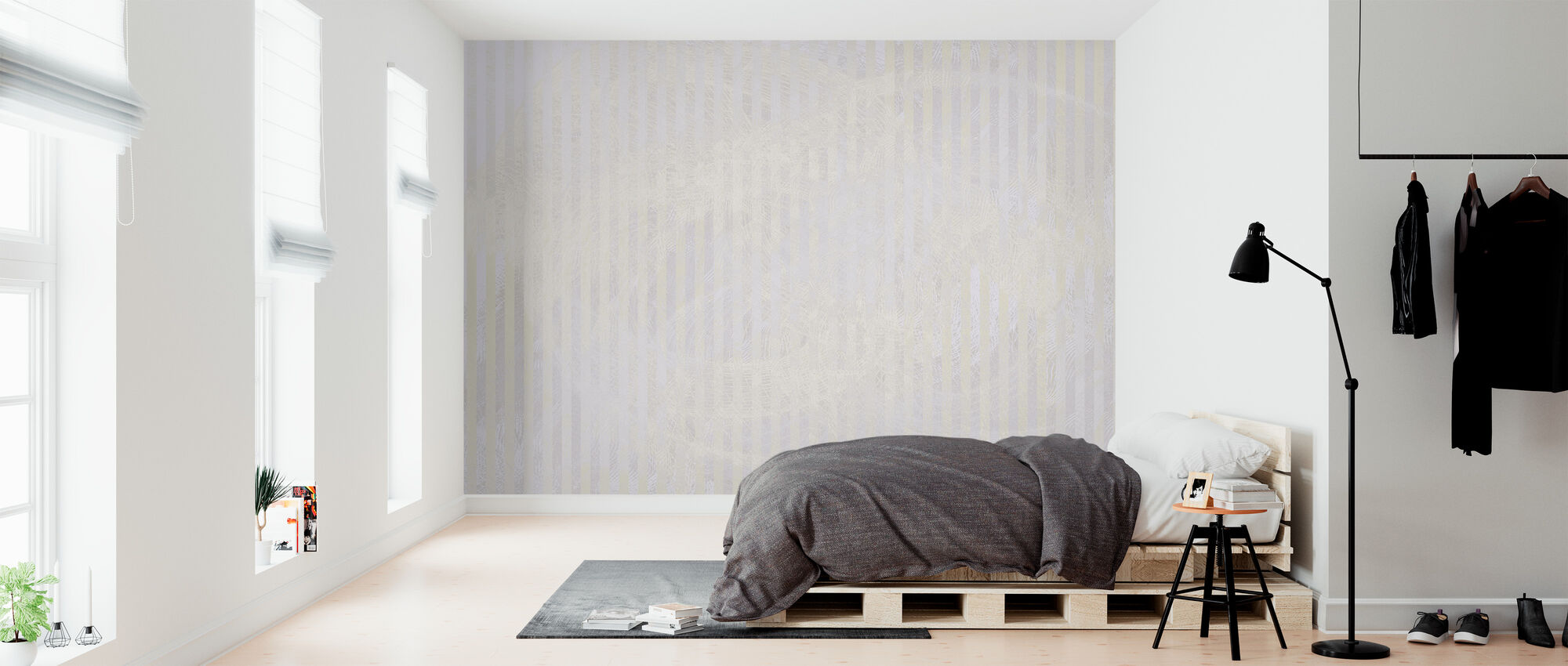 Spekular Refleksion - Lys Lilla - Tapet - Soveværelse