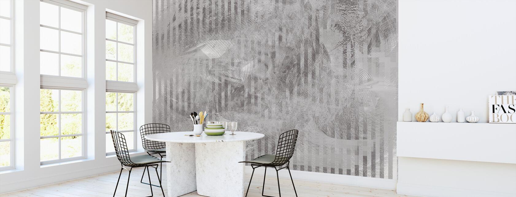 Specular Reflection - Graphite - Wallpaper - Kitchen