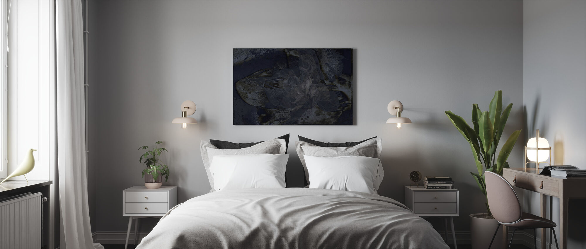 Orchid Chaos - Steel - Canvas print - Bedroom
