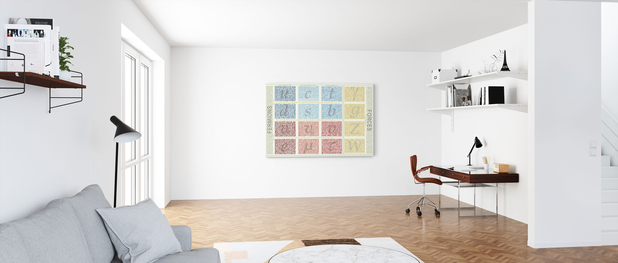 Standard Model of Particle Physics - Canvas print - Office