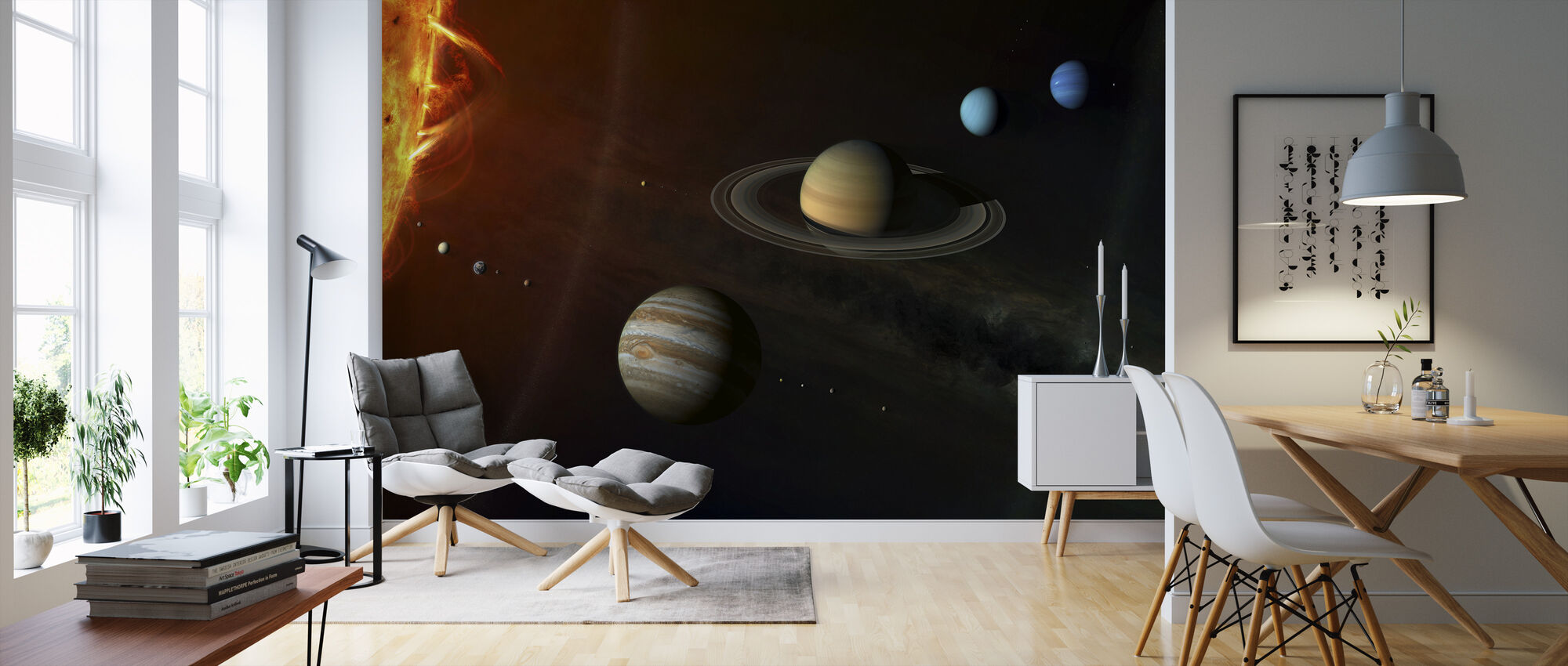 Solar System - Wallpaper - Living Room