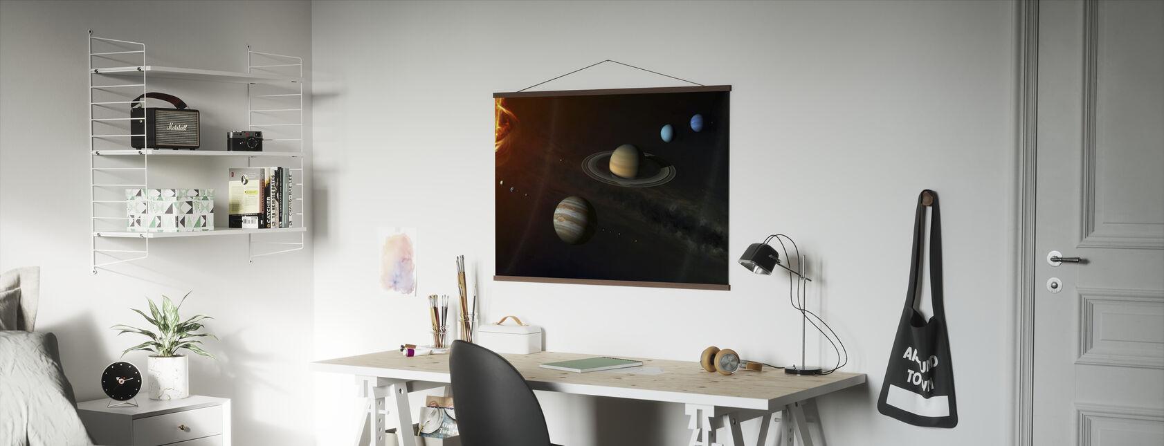 Solsystem - Plakat - Kontor