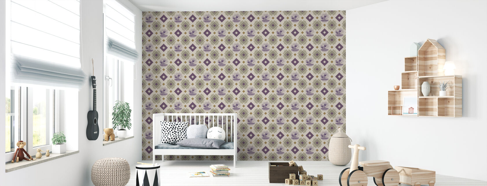 Sealpup - Purple Beige - Wallpaper - Nursery