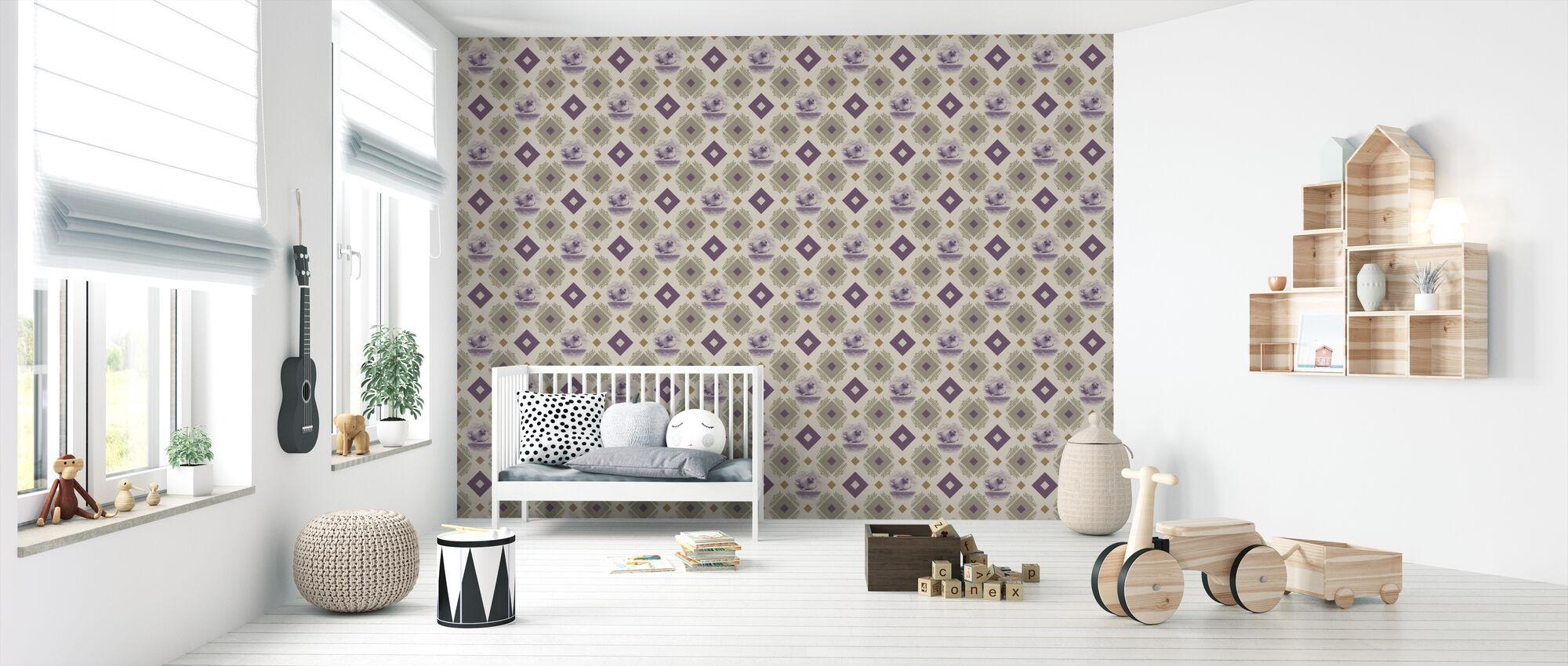 Sealpup - Purple Beige - Wallpaper - Nursery