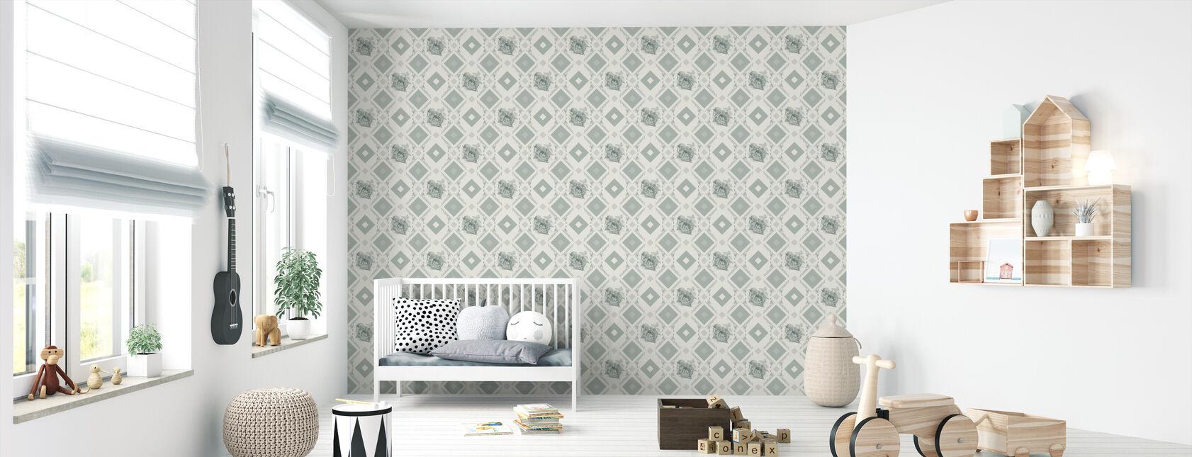 Dormouse - Green - Wallpaper - Nursery