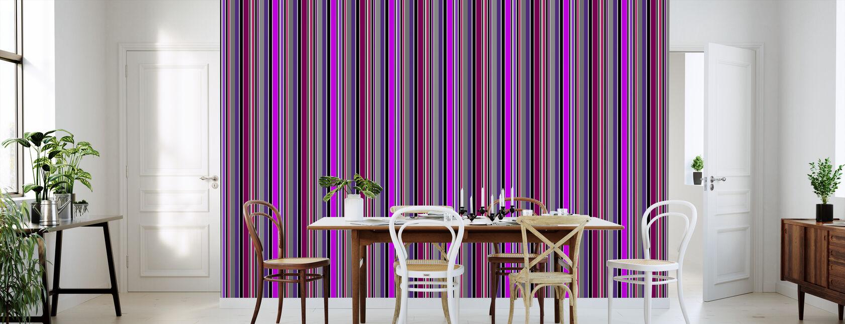 Stående Striper - Lilla - Tapet - Kjøkken