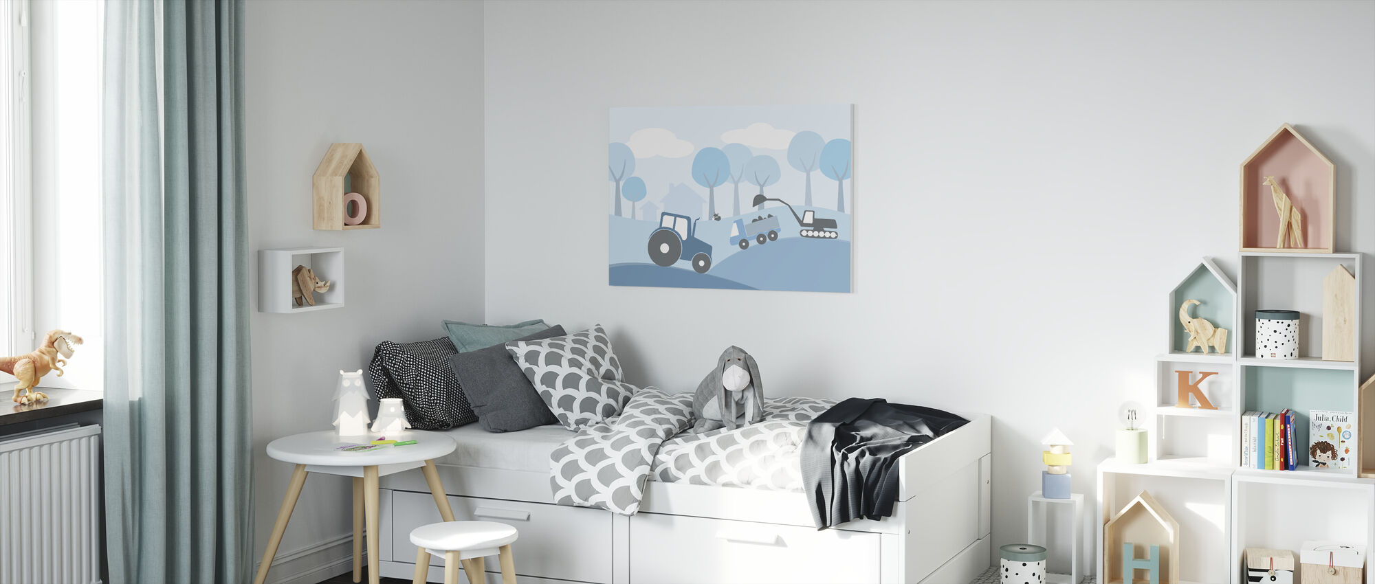 Countryside - Blue - Canvas print - Kids Room