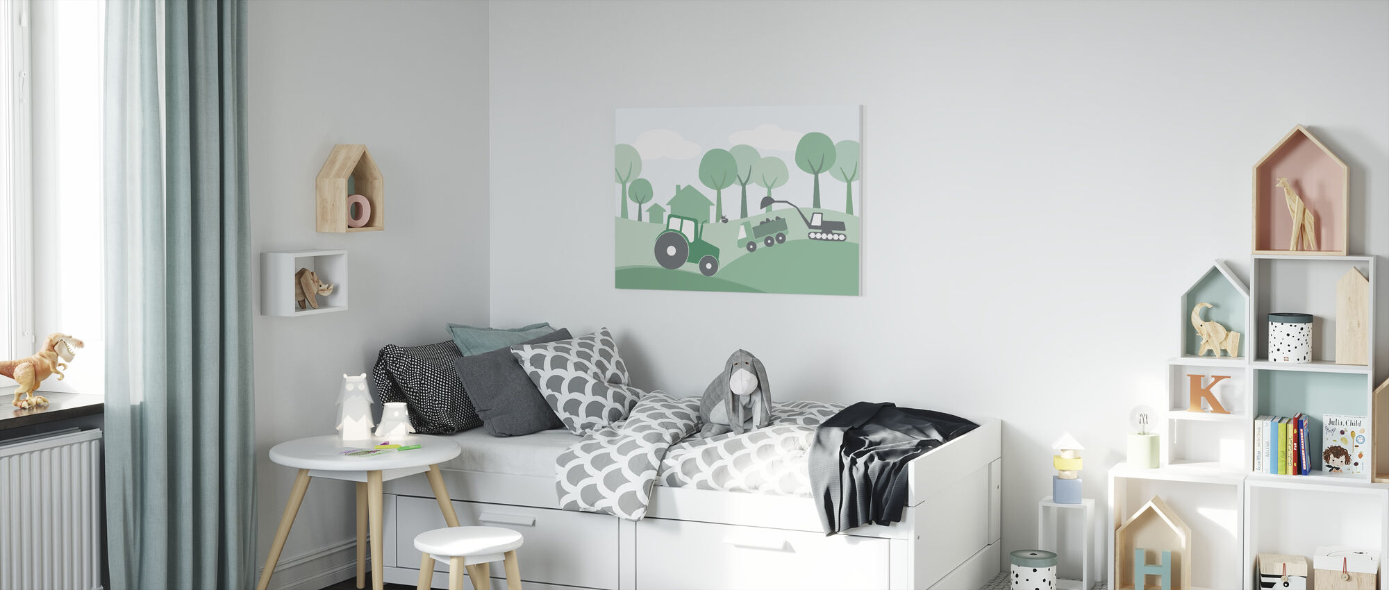 Countryside - Green - Canvas print - Kids Room