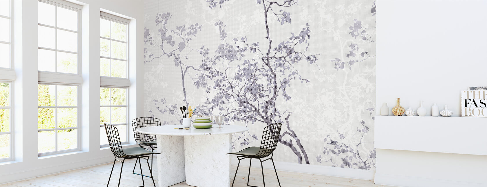 Memory - Purple - Wallpaper - Kitchen
