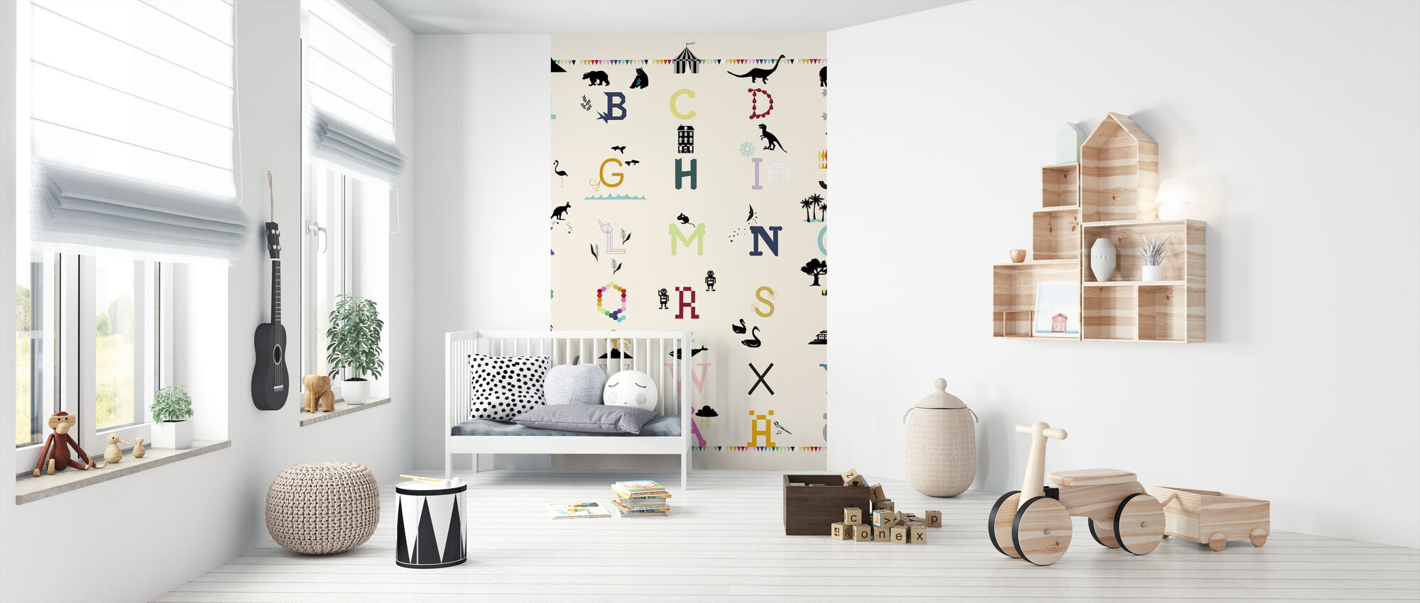 ABC wall - Swedish - Wallpaper - Nursery