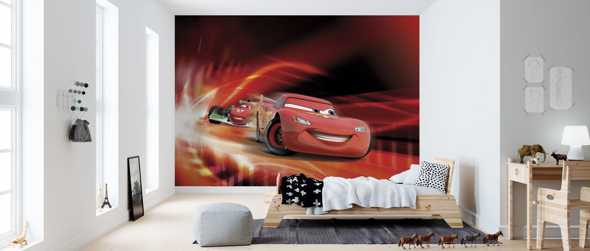 Biler - Rød rase - Tapet - Barnerom